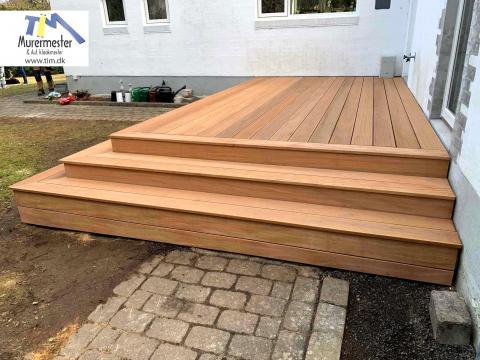 Tømrerarbejde terrasse opbygning